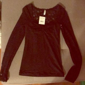free people lace long sleeve top